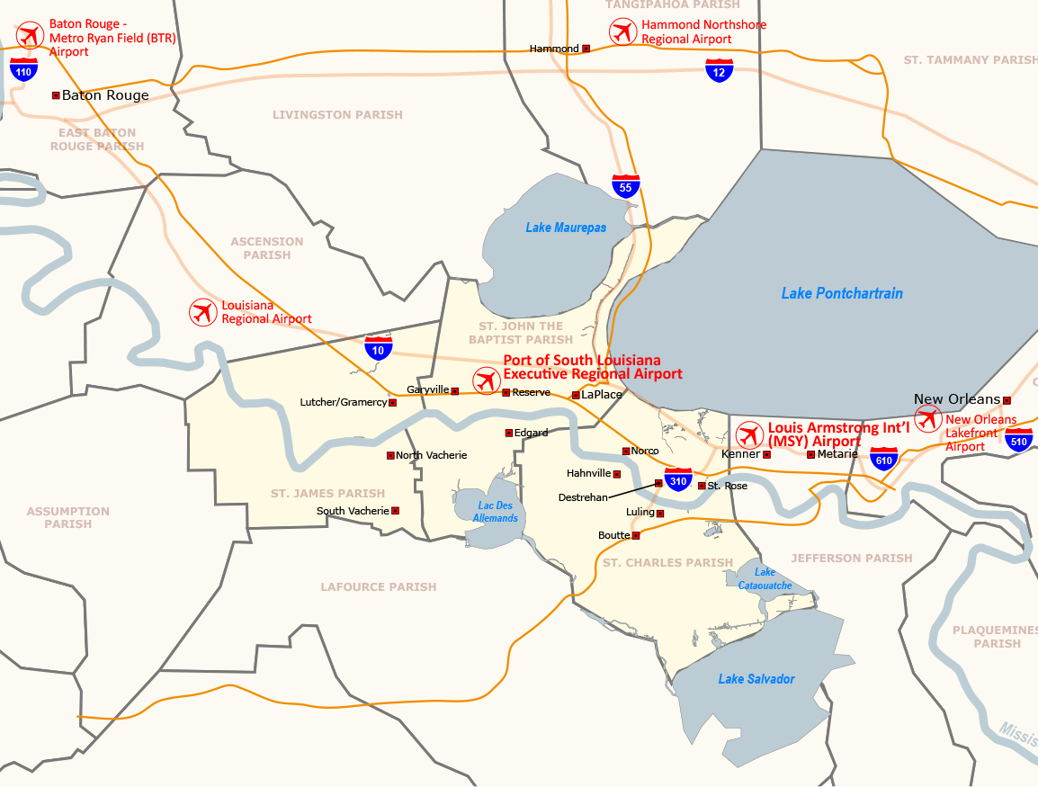 Regional Airports Map