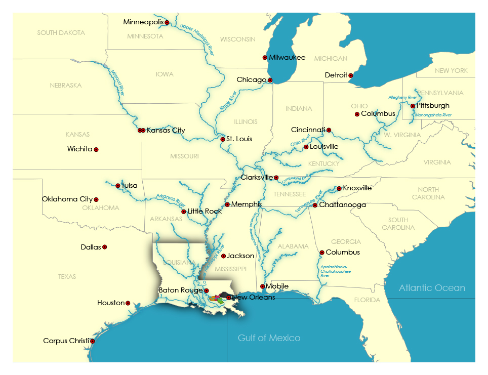 U.S. Inland River System Map