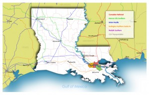 Gulf Coast Rail Lines Map